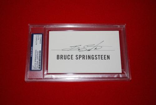 BRUCE SPRINGSTEEN born to run 3x5 signed PSA/DNA cut 1st edt the boss