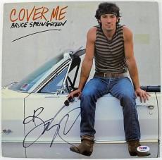 Bruce Springsteen Cover Me Signed Album Cover W/ Vinyl PSA/DNA #Q02551