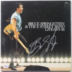 Bruce Springsteen E-street Band Box Set Signed Album Cover Psa #v10622