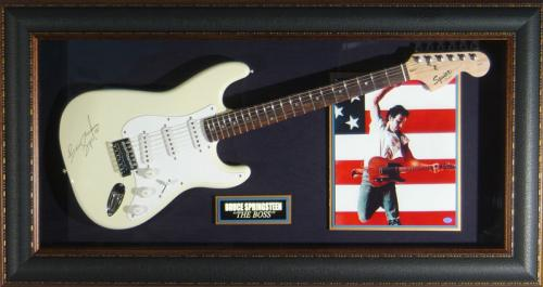 Bruce Springsteen - Laser Engraved Signature Framed Guitar
