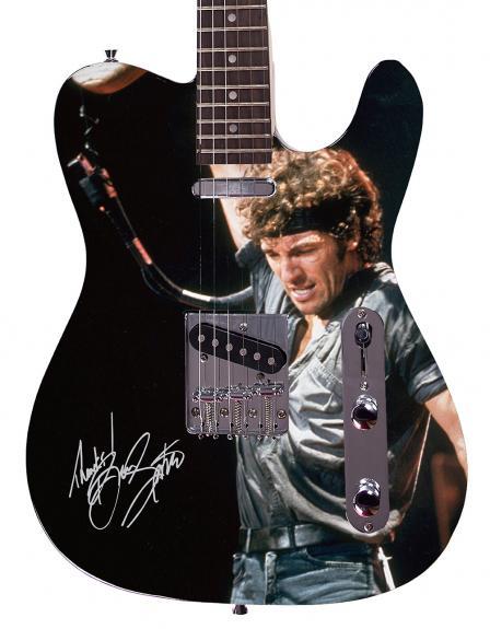 Bruce Springsteen  Facsimile Signature Custom Graphics Guitar