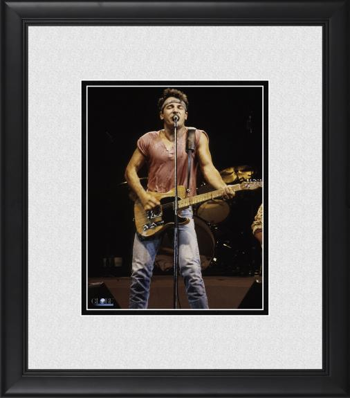 """Bruce Springsteen Framed 8"""" x 10"""" Performing Born in the USA Photograph"""