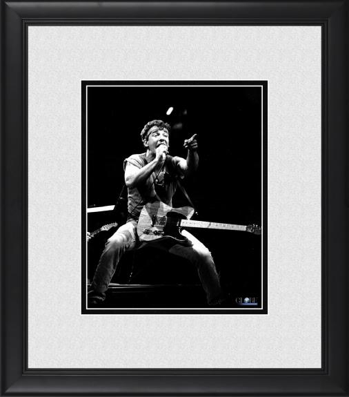 "Bruce Springsteen Framed 8"" x 10"" Singing & Pointing at Crowd Photograph"