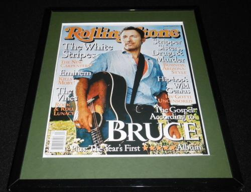 Bruce Springsteen Framed August 22 2002 Rolling Stone Cover Display