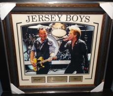 Bruce Springsteen Jon Bon Jovi Engraved Signature Jersey Boys Photo Framed