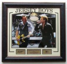 Bruce Springsteen & Jon Bon Jovi Framed Sandy Relief Photo + Engraved Signatures