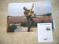 Bruce Springsteen MUSEUM PIECE Signed 20x30 Live Photo W/ SKETCH PSA Certified