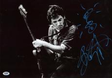 BRUCE SPRINGSTEEN SIGNED 12x18 PHOTO RARE GUITAR SKETCH THE BOSS PSA/DNA AA00182