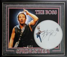 Bruce Springsteen Signed 15 Inch Drumhead Framed 29X34 Display PSA/DNA #T04104