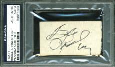 Bruce Springsteen Signed 1.5x2.75 July 28th 1978 Concert Ticket PSA/DNA Slabbed