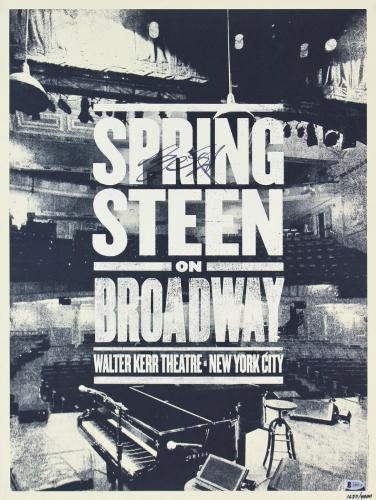 Bruce Springsteen Signed 18x24 Springsteen On Broadway Poster LE #1637/4000  BAS