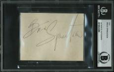 Bruce Springsteen Signed 3x4 Cut Signature Autographed BAS #10523384