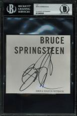 Bruce Springsteen Signed 5x4.5 Cut Signature Autographed BAS Slabbed