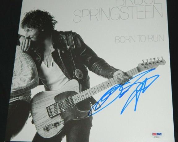 Bruce Springsteen Signed Album Born To Run The Boss Springsteen Autograph Psa