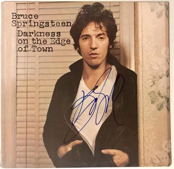 Bruce Springsteen signed album darkness on the edge of town lp beckett psa loa