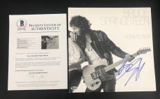 Bruce Springsteen Signed Authentic Auto Born To Run Album Lp Vinyl Bas Beckett