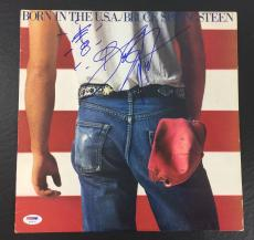 Bruce Springsteen Signed Auto Born In The U.s.a. W/ Guitar Sketch Album Psa Dna