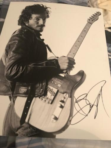 BRUCE SPRINGSTEEN SIGNED AUTOGRAPH 11x14 BORN TO RUN SPRINGSTEEN ON BROADWAY COA