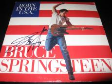 Bruce Springsteen Signed Autograph Born In The Usa Album In Person In Person Coa
