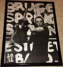 "Bruce Springsteen Signed Autograph Framed ""wrecking Ball"" Poster Psa/dna S14734"