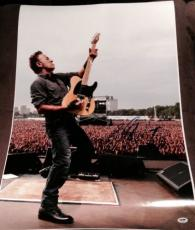 BRUCE SPRINGSTEEN SIGNED AUTOGRAPH +SKETCH HUGE CROWD STAGE 20x30 POSTER PSA/DNA