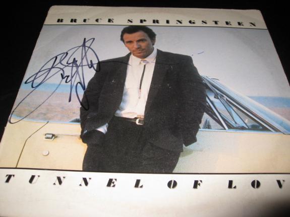 Bruce Springsteen Signed Autograph Tunnel Of Love Album In Person Coa Rare D