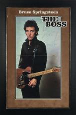 Bruce Springsteen Signed Autographed 11x22 Program Framed Photograph JSA