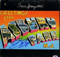 Bruce Springsteen Signed Autographed Asbury Park NJ Album Vinyl LP PSA LOA