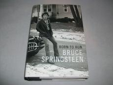 """BRUCE SPRINGSTEEN signed autographed """"BORN TO RUN"""" BOOK! CHICAGO BOOK SIGNING"""