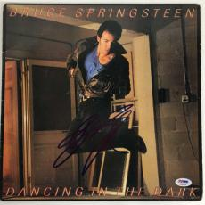 Bruce Springsteen Signed Autographed Dancing In The Dark Album PSA/DNA