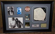Bruce Springsteen signed autographed FRAMED guitar pick pass ticket PSA DNA RARE