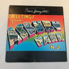 Bruce Springsteen Signed Autographed Greetings From Asbury Park NJ Album Cover