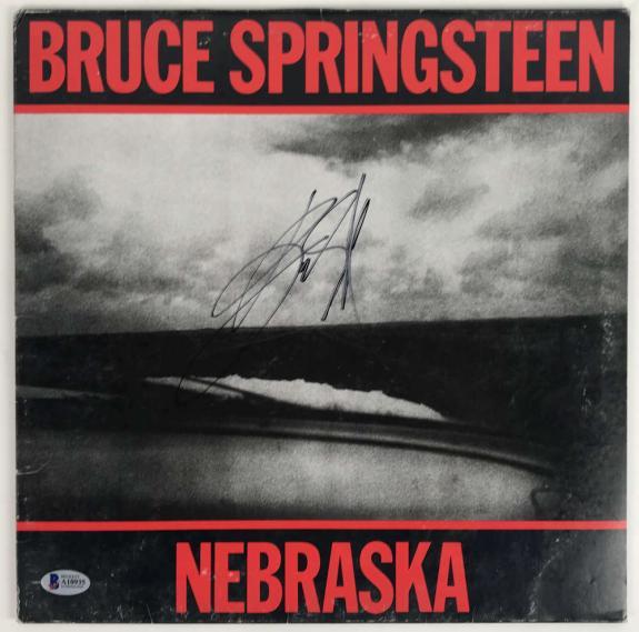 Bruce Springsteen Signed Autographed Nebraska Album Beckett BAS