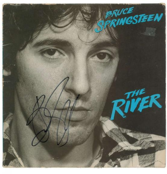 Bruce Springsteen Signed Autographed The River Album LP Beckett BAS