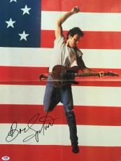 "Bruce Springsteen Signed ""born In The Usa"" The Boss Poster Psa/dna Y06835"