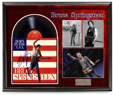 Bruce Springsteen Signed Born In USA Album PSA + Display Shadowbox Case
