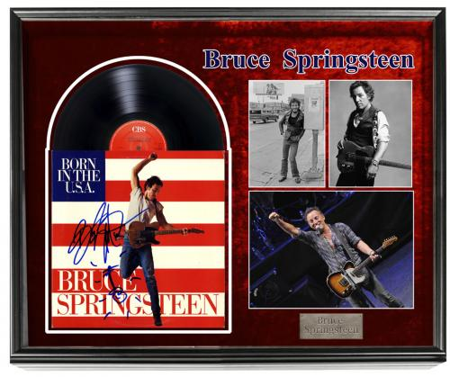 Bruce Springsteen Signed Born In USA Album LP Vinyl Display Shadowbox Case