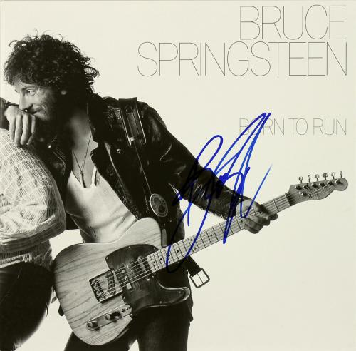 Bruce Springsteen Signed Born To Run Album Cover BAS #A02039