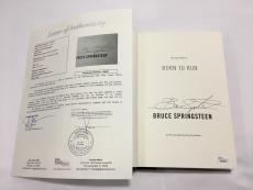Bruce Springsteen Signed Born To Run Hard Cover Book JSA LOA