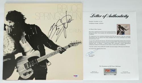 Bruce Springsteen Signed Born To Run Record Album Psa Loa Ad03203