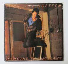 Bruce Springsteen Signed Dancing in the Dark Album Cover w/Vinyl PSA/DNA #K47483