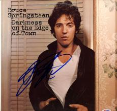 Bruce Springsteen Signed Darkness On The Edge Of Town Album Cover PSA