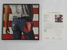"Bruce Springsteen Signed Framed ""born In The Usa"" Record Album Vinyl Lp Jsa Loa"