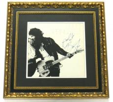 Bruce Springsteen Signed Framed Born to Run Authentic Record Album PSA/DNA
