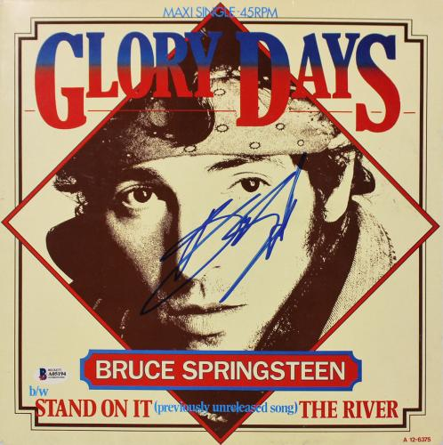 Bruce Springsteen Signed Glory Days Maxi Single 45RPM Album Cover BAS #A05194