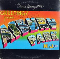 Bruce Springsteen Signed Greetings From Asbury Park Album Cover BAS #A85711
