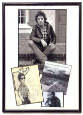 Bruce Springsteen Signed Inscribed Framed Hand Drawn Photo 1982 The Promise JSA