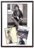 Bruce Springsteen Signed Inscribed Framed Hand Drawn Photo 1982 The Promise JSA