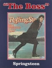 Bruce Springsteen Signed Matted Rolling Stone Magazine Cover BAS #A85708