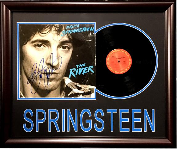 Bruce Springsteen Signed River Album record cover framed autograph JSA COA